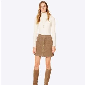 Tory Burch Lucitano Skirt Corduroy Button Front